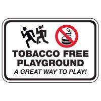 Tobacco Free Playground - Playground Sign