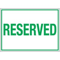 Traffic Cone Sign - Reserved