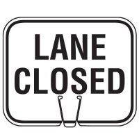 Traffic Cone Signs - Lane Closed