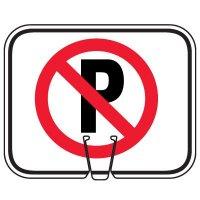 Traffic Cone Signs - No Parking Symbol