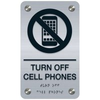 Turn Off Cellphones - Premium ADA Facility Signs
