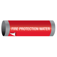 Ultra-Mark® Snap-Around High Performance Pipe Markers - Fire Protection Water
