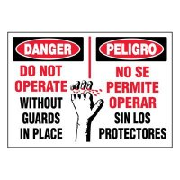Ultra-Stick Signs - Danger Do Not Operate (Bilingual)