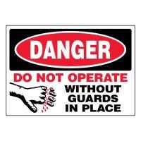 Ultra-Stick Signs - Danger Do Not Operate