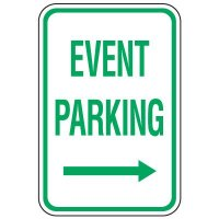 Visitor Parking Signs - Event Parking (Right Arrow)