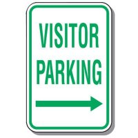Visitor Parking Signs - Visitor Parking (Right Arrow)