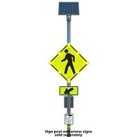 Push Button LED Pedestrian Crossing Signs