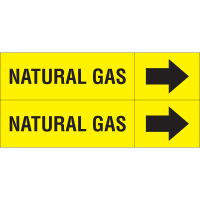 Weather-Code™ Self-Adhesive Outdoor Pipe Markers - Natural Gas