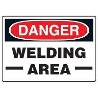 Welding Safety Signs - Danger Welding Area
