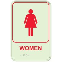 Women - Glo-Brite® ADA Braille Signs