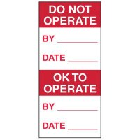 Write-On Action Labels - Do Not Operate