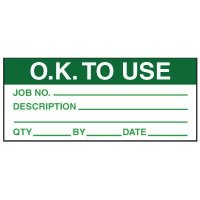 Write-On Action Labels - O.K. To Use