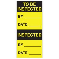 Write-On Action Labels - To Be Inspected