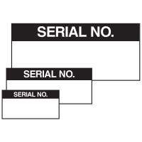 Serial No. Self Laminating Labels