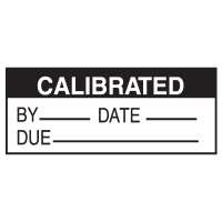 Write On Labels - Calibrated By__Date__Due__
