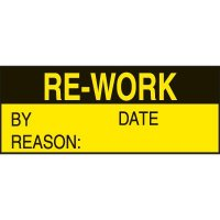 Write-On Labels - RE-WORK BY DATE