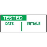 Write-On Labels - TESTED DATE