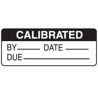 Calibrated By Date Due Write On Labels On A Roll