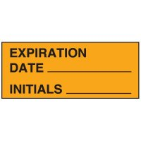 Write-On Status Roll Labels - Expiration Date ___ Initials ___