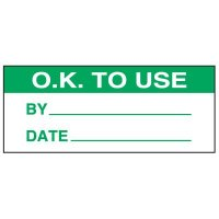Write-On Status Roll Labels - Ok To Use By ___ Date ___