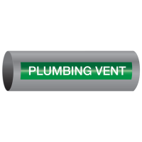 Xtreme-Code™ Self-Adhesive High Temperature Pipe Markers - Plumbing Vent