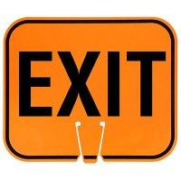 Arrow Sign Traffic Cone Signs - Exit EXIT