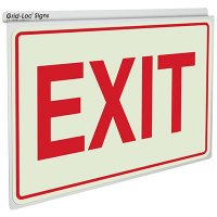 Exit - Drop Ceiling Double-Faced Signs