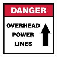 Danger Overhead Power Lines Sign