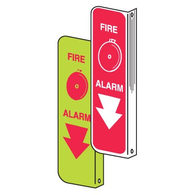 2-way Fire & Exit Signs - Fire Alarm