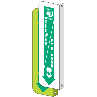 2-Way View Emergency Shower/Eye Wash Sign