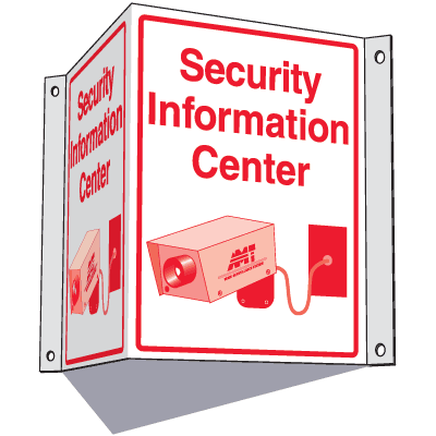 3-Way Information Centre Signs- Security Information