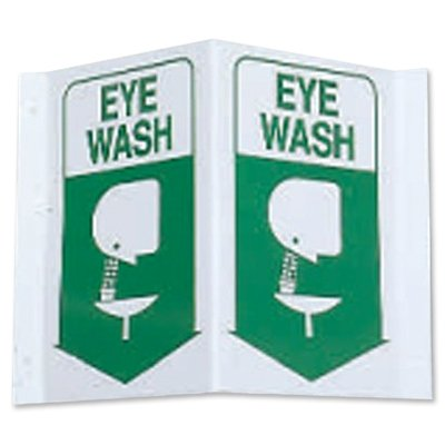 3-Way View First Aid Safety Signs - Eye Wash