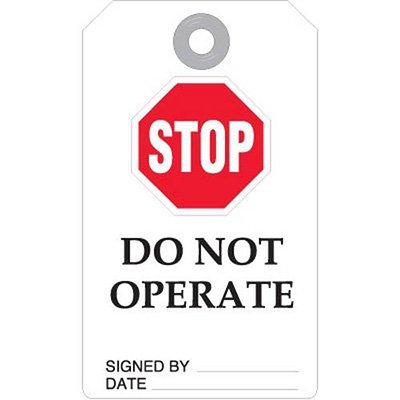 Stop Do Not Operate Accident Prevention Tag