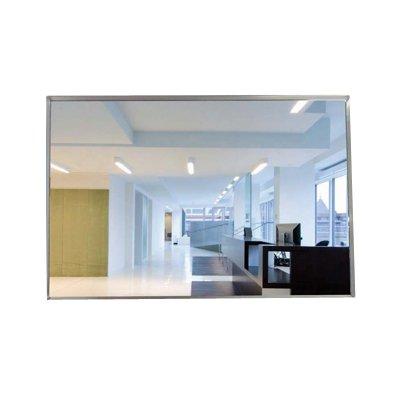 Acrylic Roundtangular Convex Mirror, Galvanized Steel Back