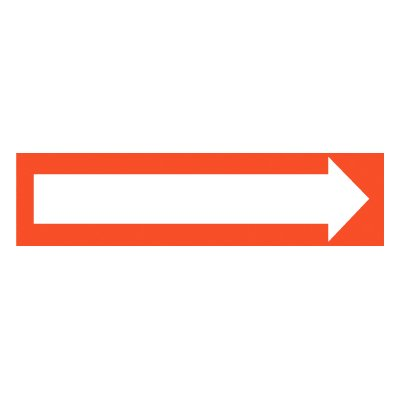 Directional Arrow (Graphic) Self-Adhesive Vinyl Exit Signs