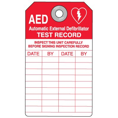 AED Inspection Tags