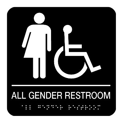 All Gender Restroom (Accessibility) - Braille Restroom Signs