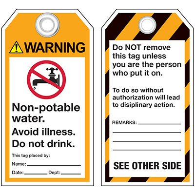 ANSI Non Potable Water Information Tags