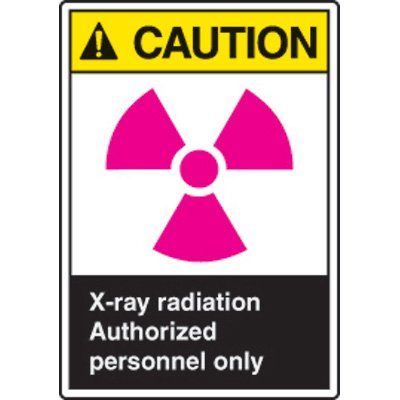 ANSI Safety Signs - Caution X-ray Radiation