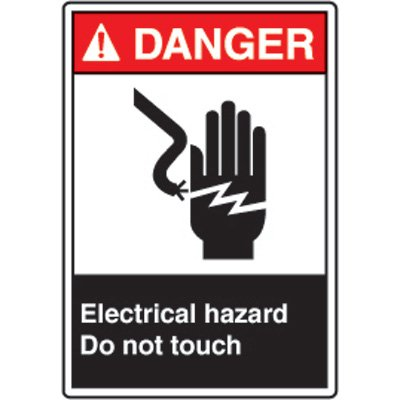 ANSI Danger Sign - Electrical Hazard Do Not Touch