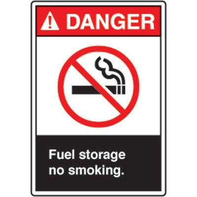 ANSI Safety Signs - Danger Fuel Storage
