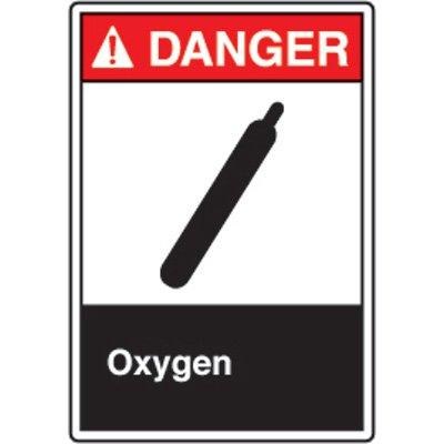 ANSI Safety Signs - Danger Oxygen