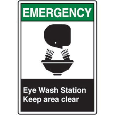 ANSI Safety Signs - Emergency Eye Wash Station