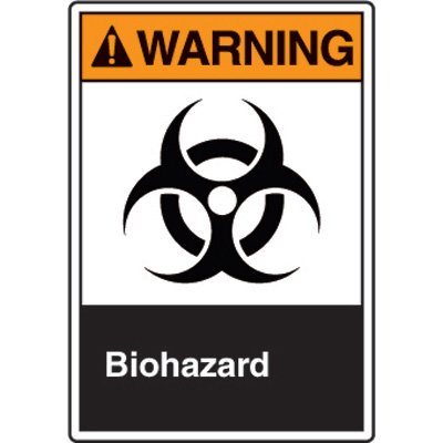 ANSI Safety Signs - Warning Biohazard