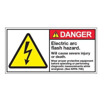 ANSI Z535 Safety Labels - Electric Arc Flash Hazard