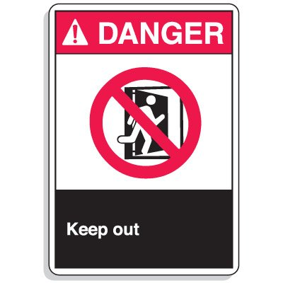 ANSI Z535 Safety Signs - Danger Keep Out