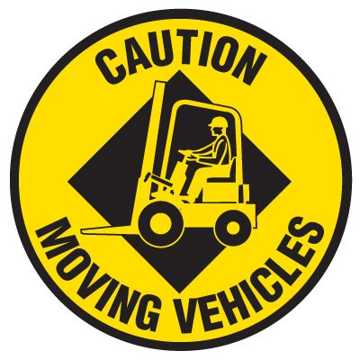 Anti-Slip Floor Markers - Caution Moving Vehicles