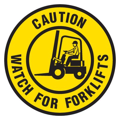 Anti-Slip Floor Markers - Caution Watch For Forklifts