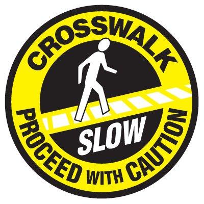Anti-Slip Floor Markers - Crosswalk Proceed With Caution
