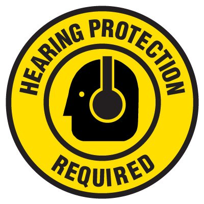 Lexan Heavy Duty Floor Markers-Hearing Protection Required